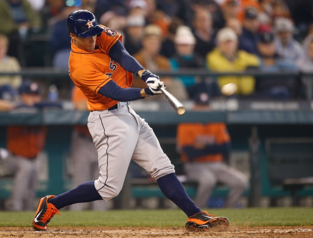 George Springer will be playing center field this season. (Otto Greule Jr/Getty Images)